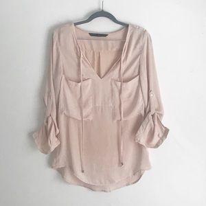 Zara Basic Silky Blouse